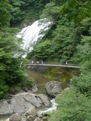 袋田の滝 滝見茶屋からの眺め