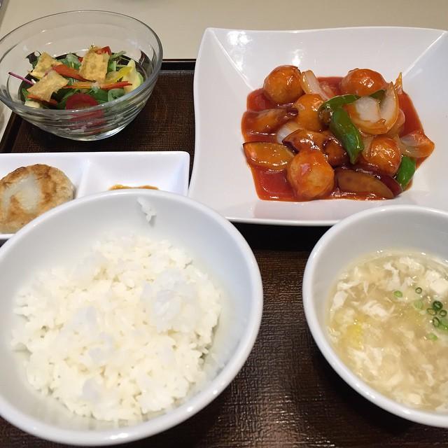 礼華 青鸞居 / 白身魚とイカすり身の甘酢炒め