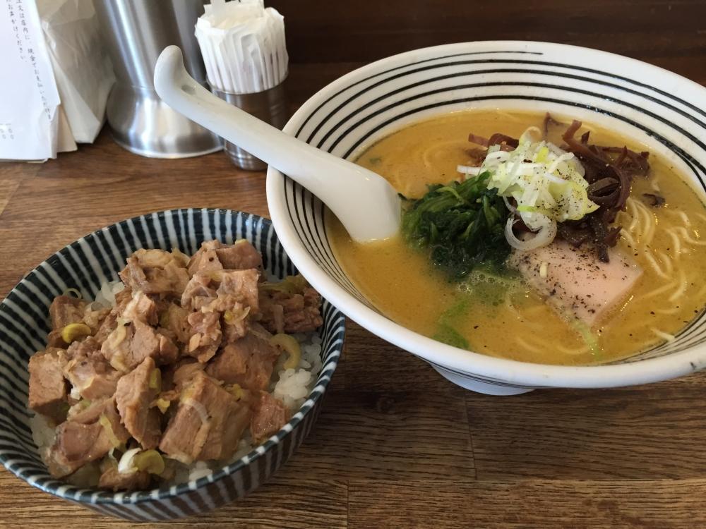 麺屋すみす / 博多水炊きらーめん・チャーシュー丼