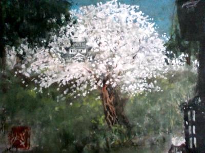 正徳桜の間から天守