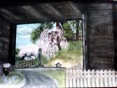 大手門から桜