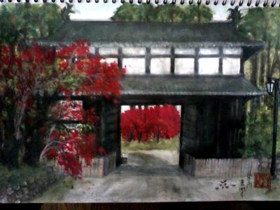 東門と紅葉