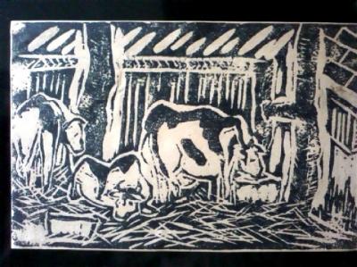 三上牛乳 牛舎