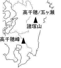 天孫降臨地図