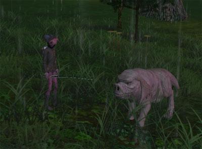 ピンクのロバ