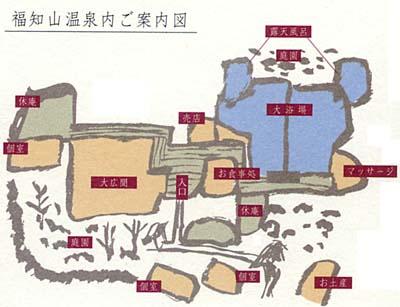 福知山温泉案内図