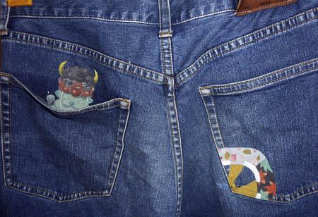 ジーンズ:ポケット