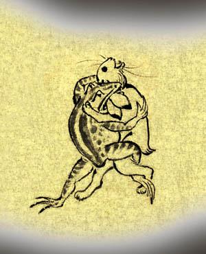 鳥獣戯画:蛙