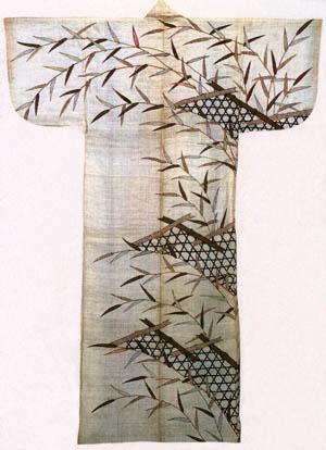 白麻地蛇篭模様