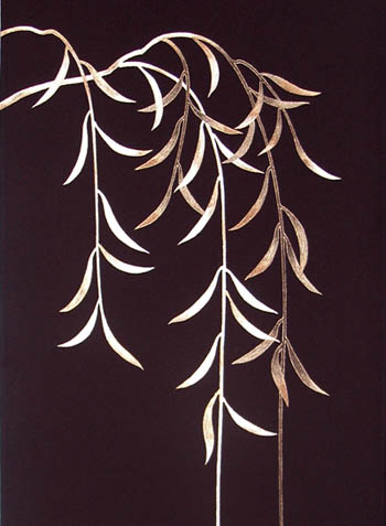 帯金彩枝垂れ柳