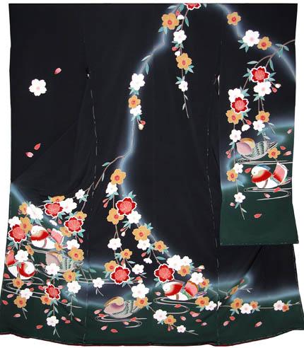 振袖:枝垂桜に鴛鴦