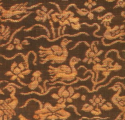 金襴蓮池水禽模様和久田手