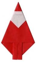 折り紙のサンタクロース