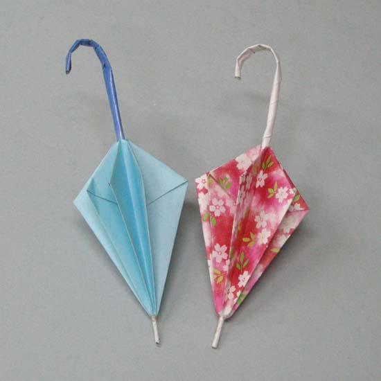 クリスマス 折り紙:折り紙傘の作り方-divulgando.net