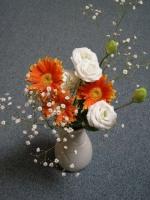 オレンジ色の花束を父の日にもらいました。