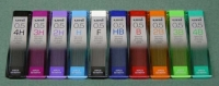 三菱鉛筆0.5mmユニ芯ナノダイアの濃さは10種類あります。