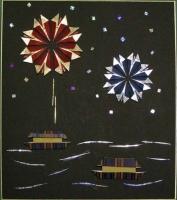 家内が折り紙教室で教わってきた季節の風物詩「花火」です。