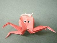 折り紙でタコも折れるんですね。