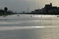 応募作品名「水面の輝き」。昨年、戸田漕艇場で撮影した写真です。