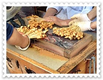 今宮神社かざりやのあぶり餅