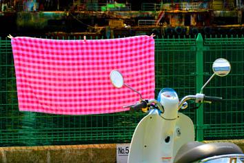 ピンクの布