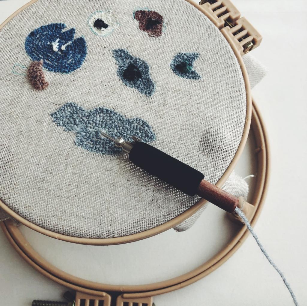 ニードル パンチ 刺繍