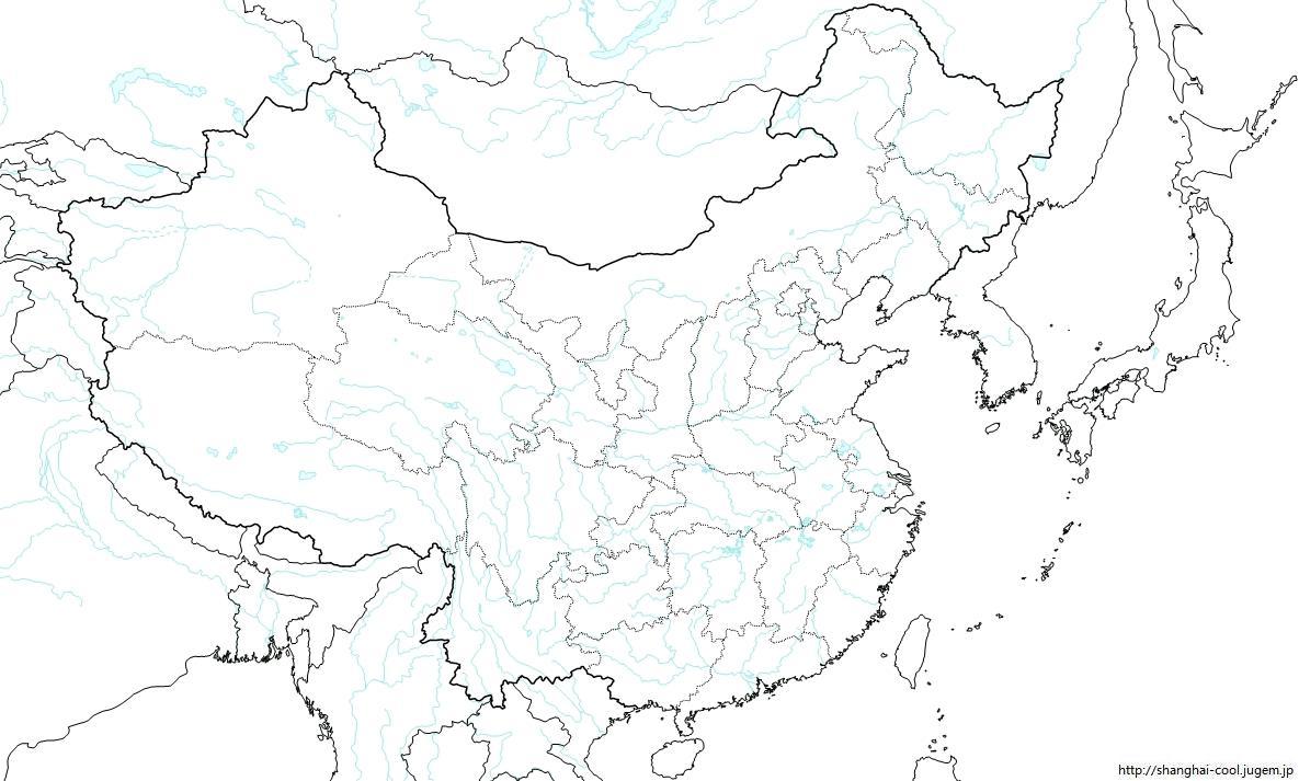 中国の白地図 | 中華ファイア