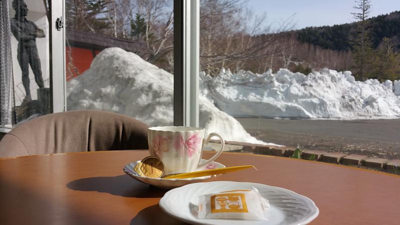 初代とコーヒー良い天気