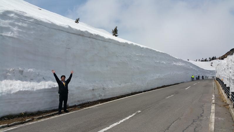 志賀高原の雪壁