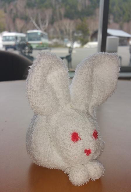 1枚のタオルで手作り白兎 表