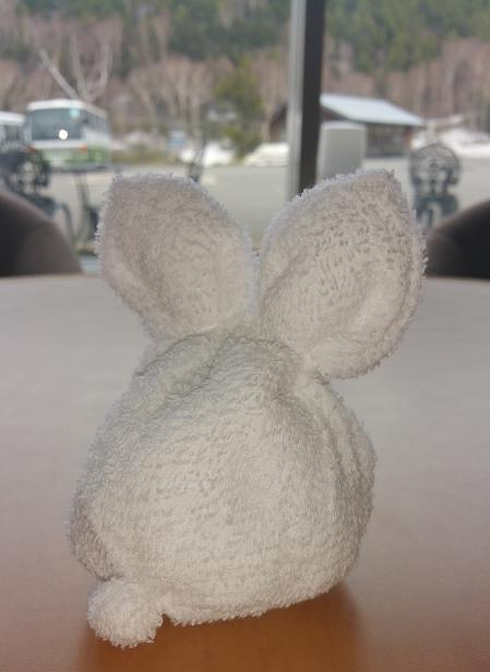 1枚のタオルで手作り白兎 裏