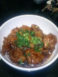 鶏の唐揚げ煮