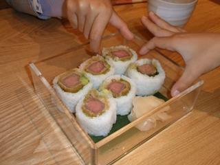 牛肉かつロール寿司