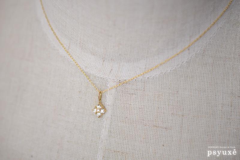 k18イエローゴールドとダイアモンドのネックレス