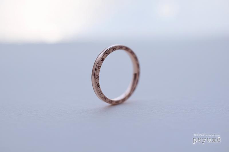 K10ピンクゴールドの結婚指輪