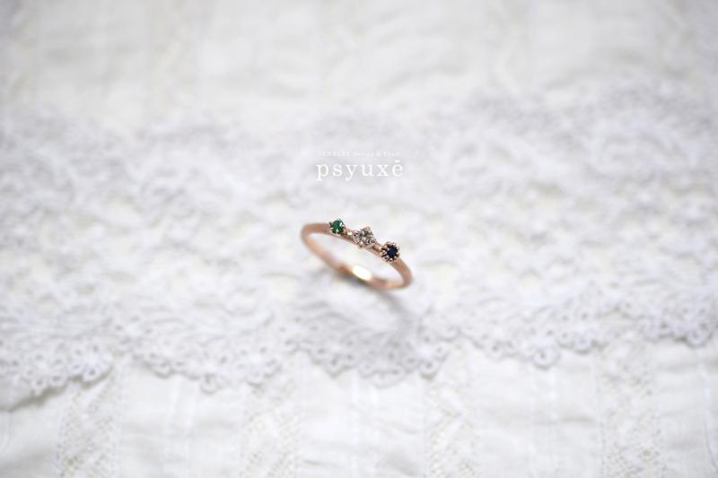 ご家族の誕生石の指輪