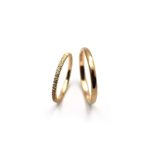 K18ピンクゴールドの結婚指輪