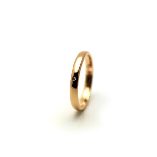 K18ピンクゴールドとダイアモンドのマリッジリング