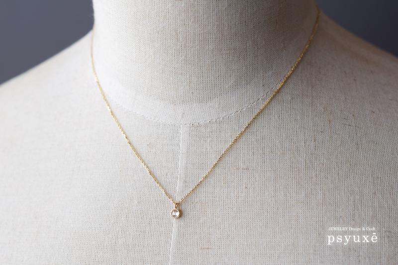 Rosecut Diamond, K18yellow Gold, Millegrain, Necklace