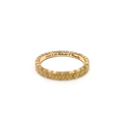 K18イエローゴールドの結婚指輪
