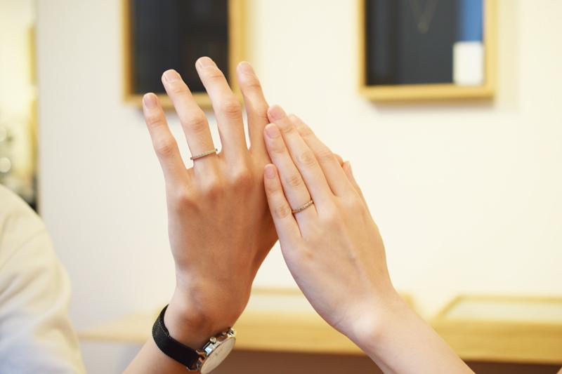 素敵なお客様のご結婚指輪を制作させていただきました♪リングサイズもピッタリです☆