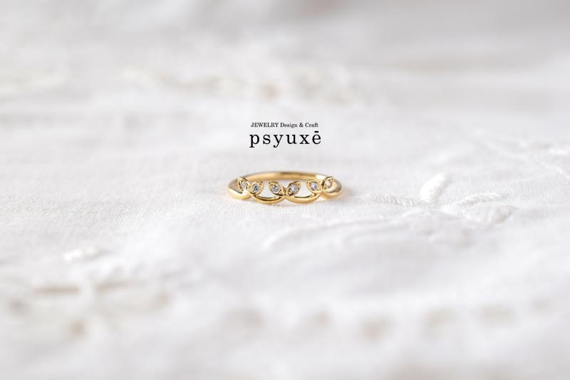 《Crown plus(クラウン・プリュス)》K18イエローゴールド・ダイアモンド・リング