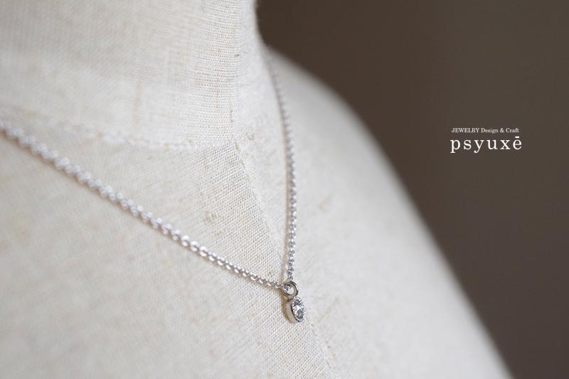 ローズカットダイヤモンドとミルグレインのネックレス