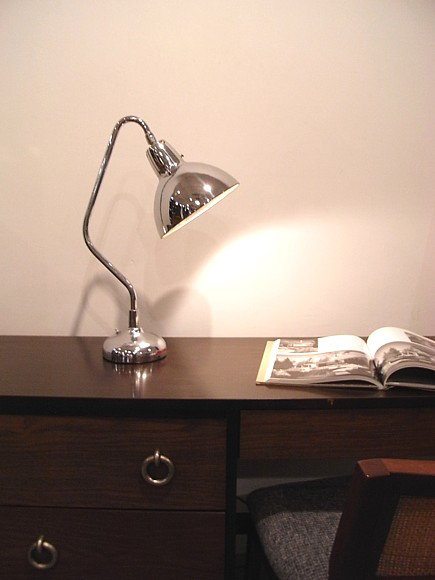 Vintage Art Deco Machine Age Chrome Lamp