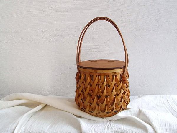 vintage wicker handbag かごバッグ