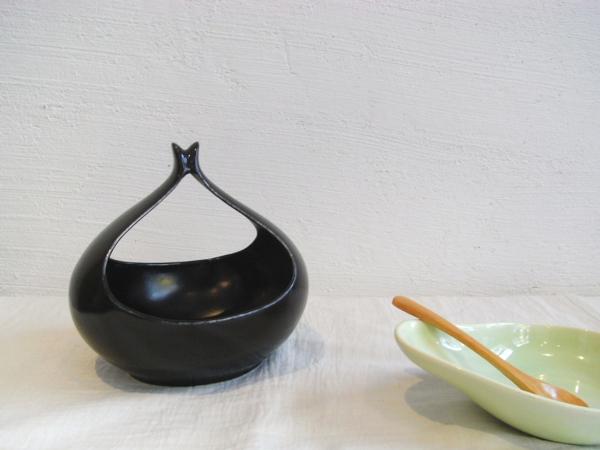 Eva Zeisel Hallcraft Tomorrows Classic Sauce Boat Black