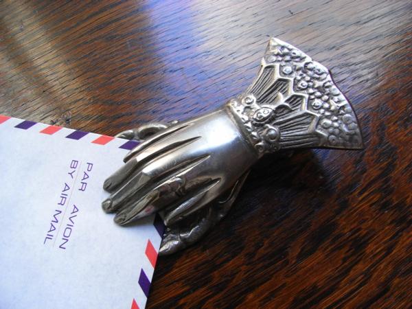antique hand clip