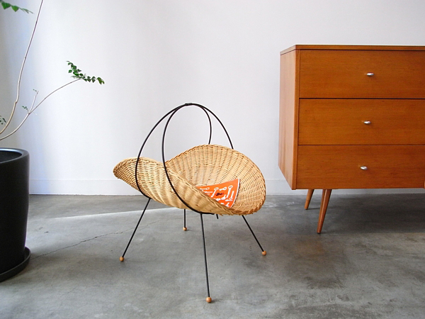 Vintage Rattan Catch all Tony Paul Arthur Umanoff