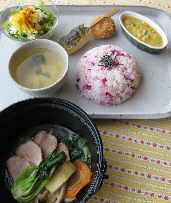 煮豚と野菜蒸し煮