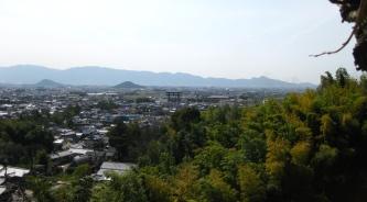 久恵彦神社上の展望場所から奈良盆地